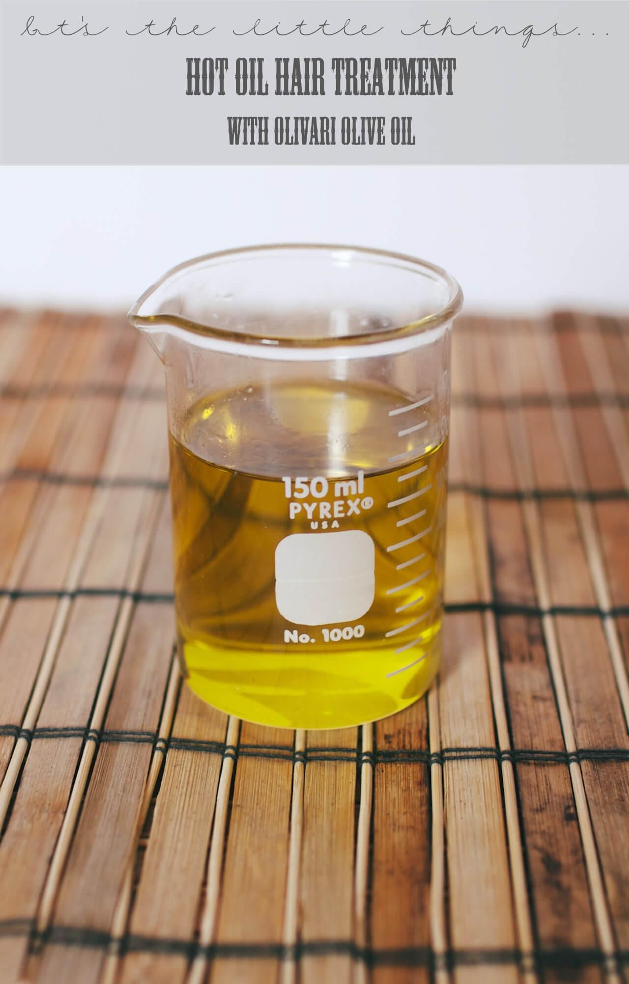 Hot Oil Hair Treatment DIY  DIY Hot Oil Hair Treatment with Olivari Olive Oil