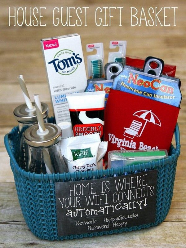House Guest Gift Basket Ideas  45 Creative DIY Gift Basket Ideas for Christmas For