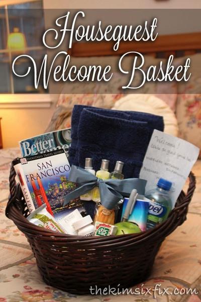 House Guest Gift Basket Ideas  Houseguest Wel e Basket
