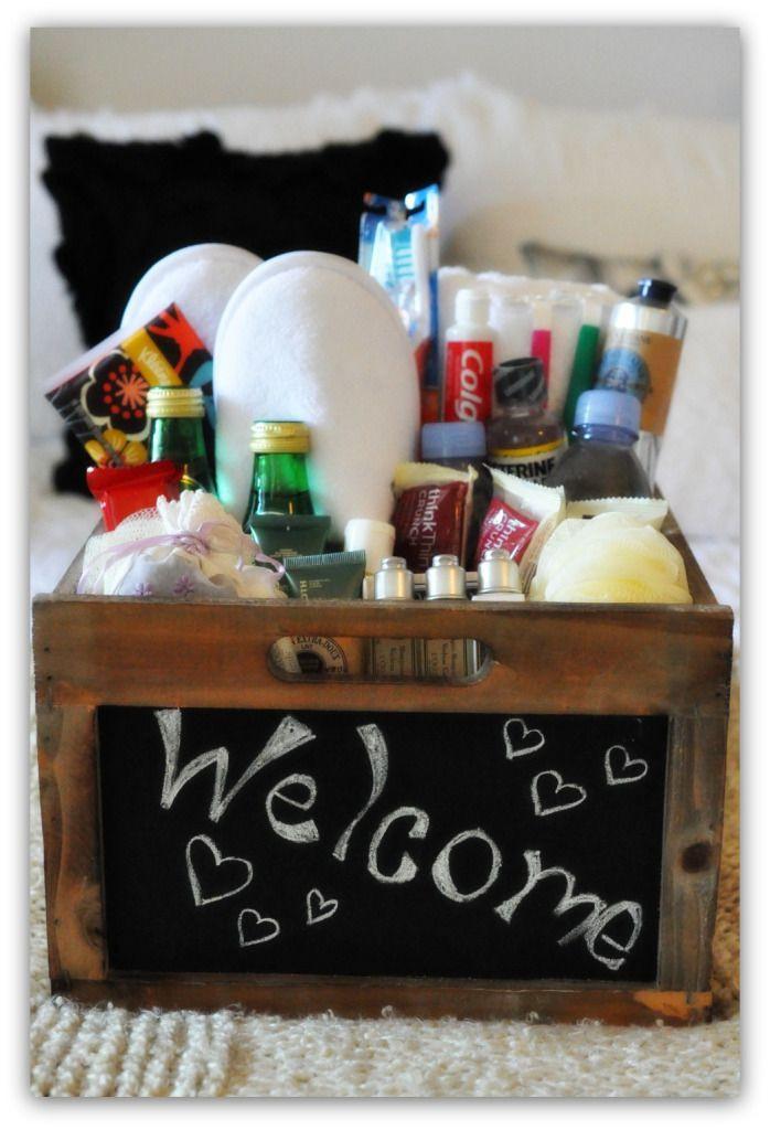 House Guest Gift Basket Ideas  25 best ideas about Wel e Baskets on Pinterest