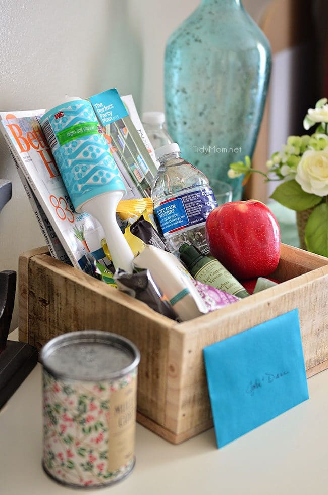 House Guest Gift Basket Ideas  Holiday Tips Get Your Home Ready for Guests