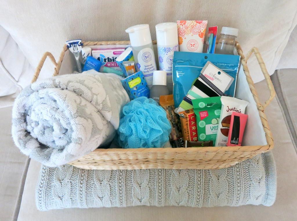 House Guest Gift Basket Ideas  Houseguest Wel e Basket for Visitors