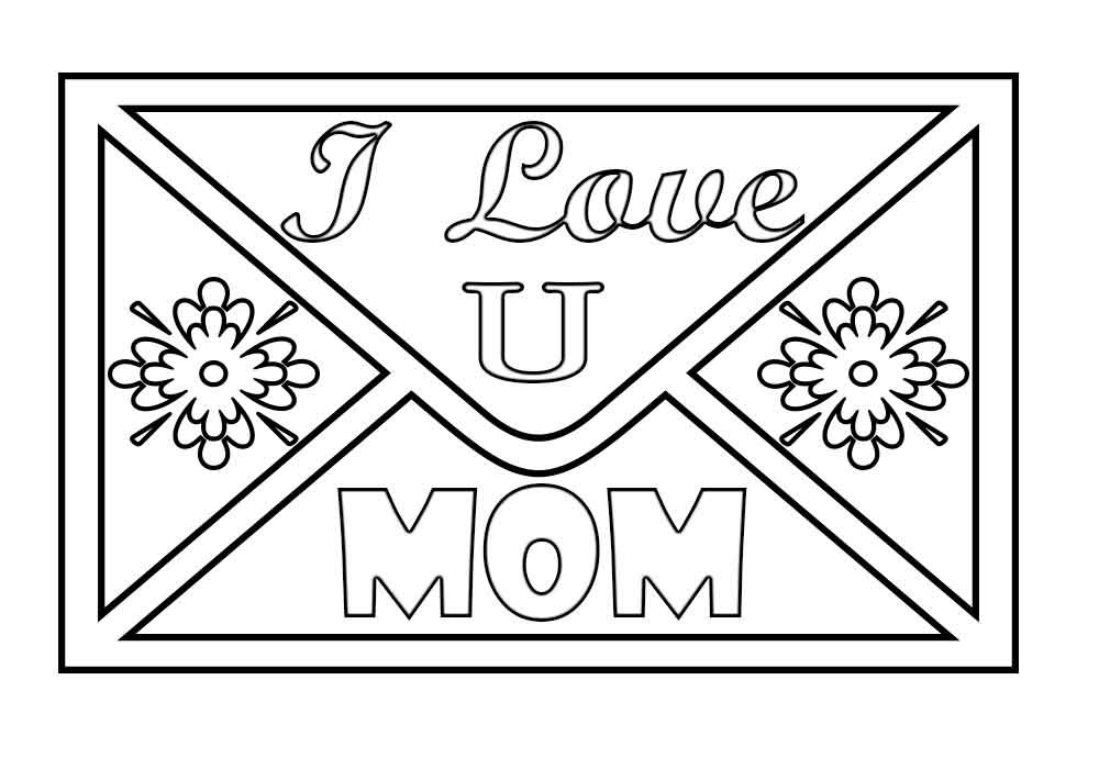 I Love You Mom Coloring Pages  I love You Mom Coloring Pages