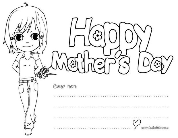 I Love You Mom Coloring Pages  I love you mom coloring pages Hellokids
