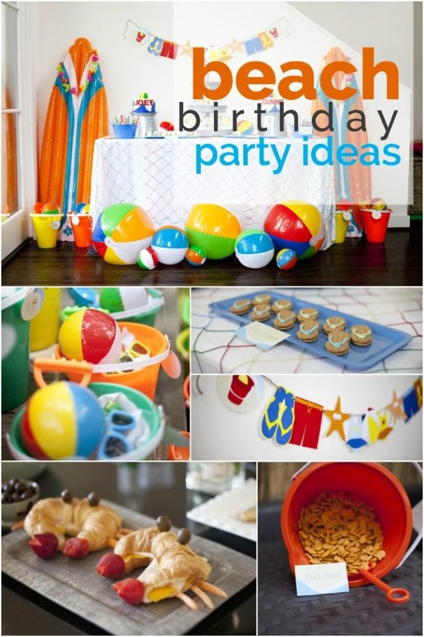 Ideas For Beach Party Theme  A Boy's Beach Birthday Party Spaceships and Laser Beams