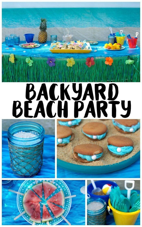 Ideas For Beach Party Theme  Backyard Beach Party Ideas