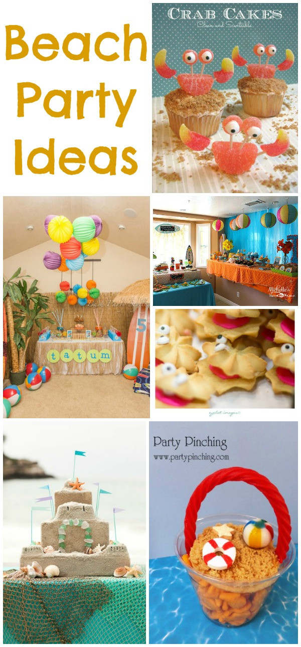 Ideas For Beach Party Theme  Beach Party Ideas Collection Moms & Munchkins