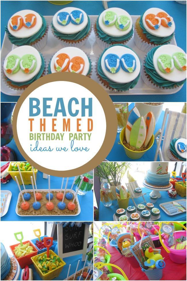 Ideas For Beach Party Theme  Surf Sand and Fun A Boy s Beach Themed Birthday Party