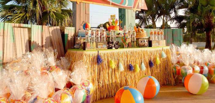 Ideas For Beach Party Theme  Kara s Party Ideas Disney s Teen Beach Movie Themed