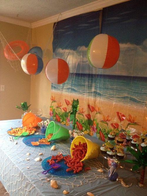 Ideas For Beach Party Theme  Festa Infantil Vamos para praia