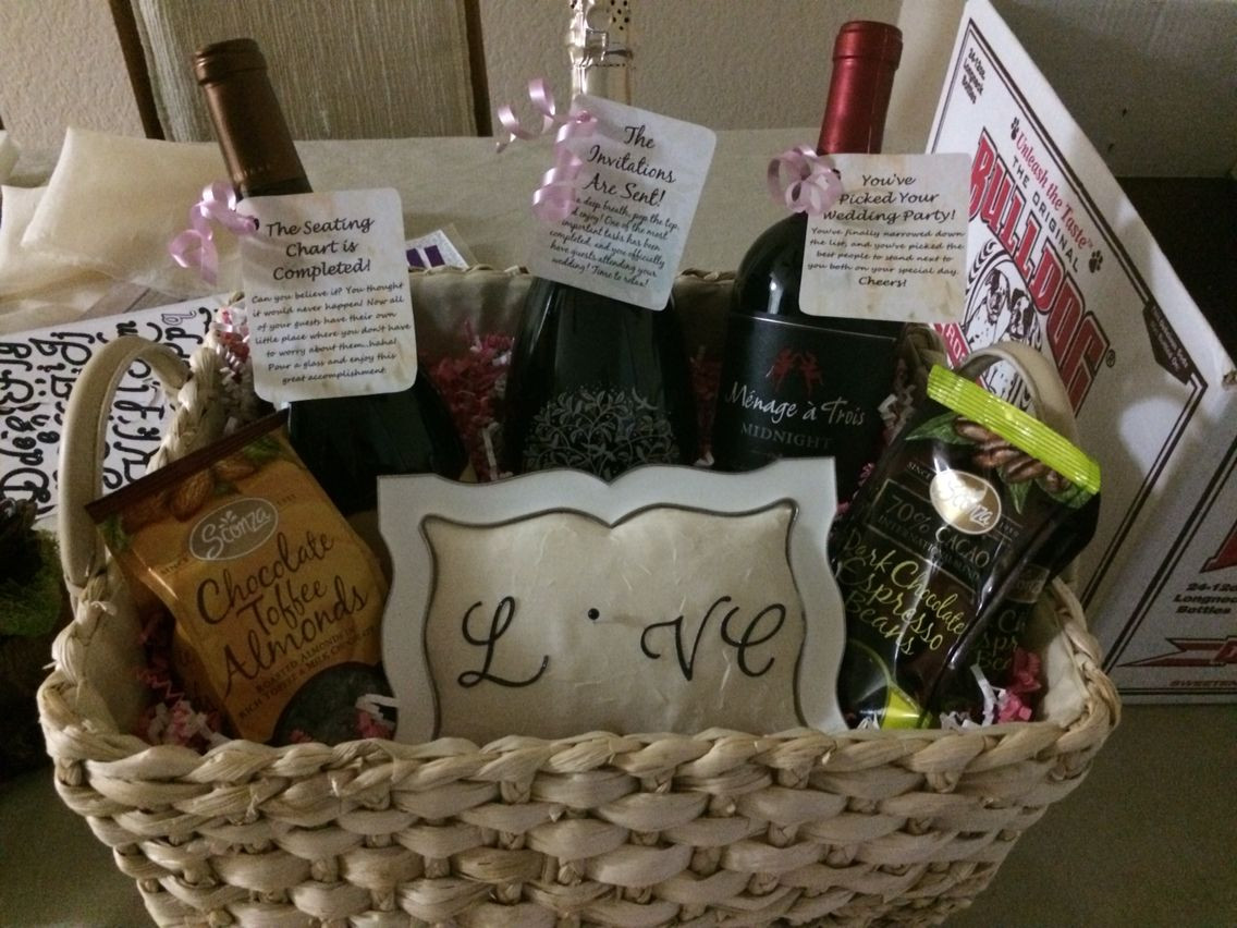 Ideas For Engagement Party Gifts  Engagement party t basket for a great couple