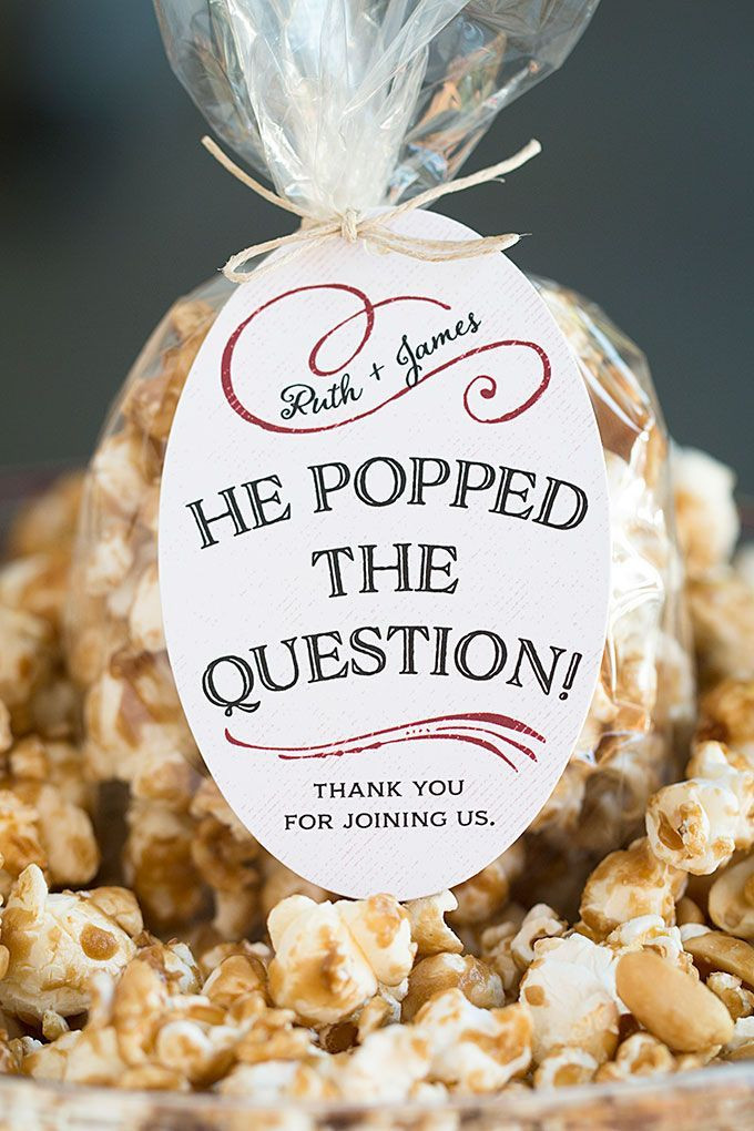 Ideas For Engagement Party Gifts  Wedding Favor Friday Caramel Corn