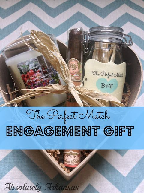 Ideas For Engagement Party Gifts  The Perfect Match Engagement t Matches & a candle