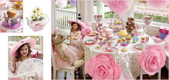 Ideas For Little Girls Tea Party  tea party Chasing Fireflies Party Ideas