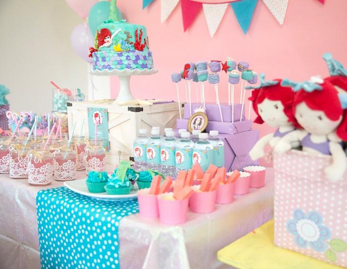Ideas For Little Mermaid Birthday Party  Kara s Party Ideas The Little Mermaid Birthday Party