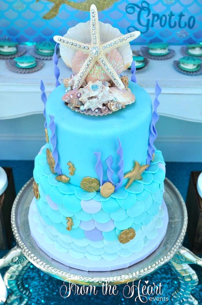 Ideas For Little Mermaid Birthday Party  Kara s Party Ideas Vintage Glamorous Little Mermaid