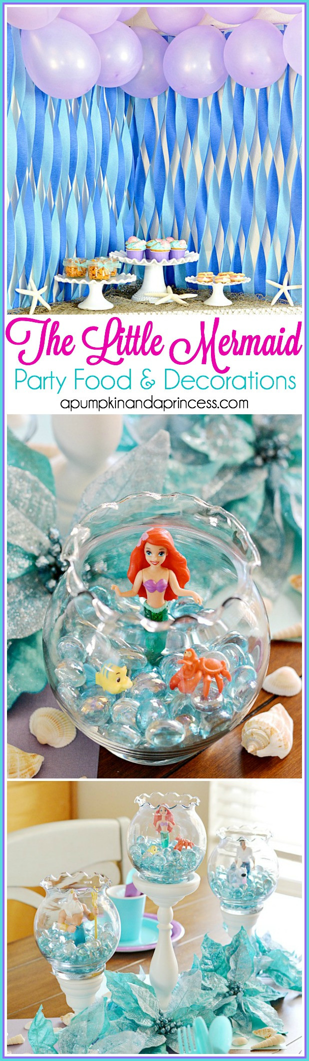 Ideas For Little Mermaid Birthday Party  The Little Mermaid Party A Pumpkin And A Princess