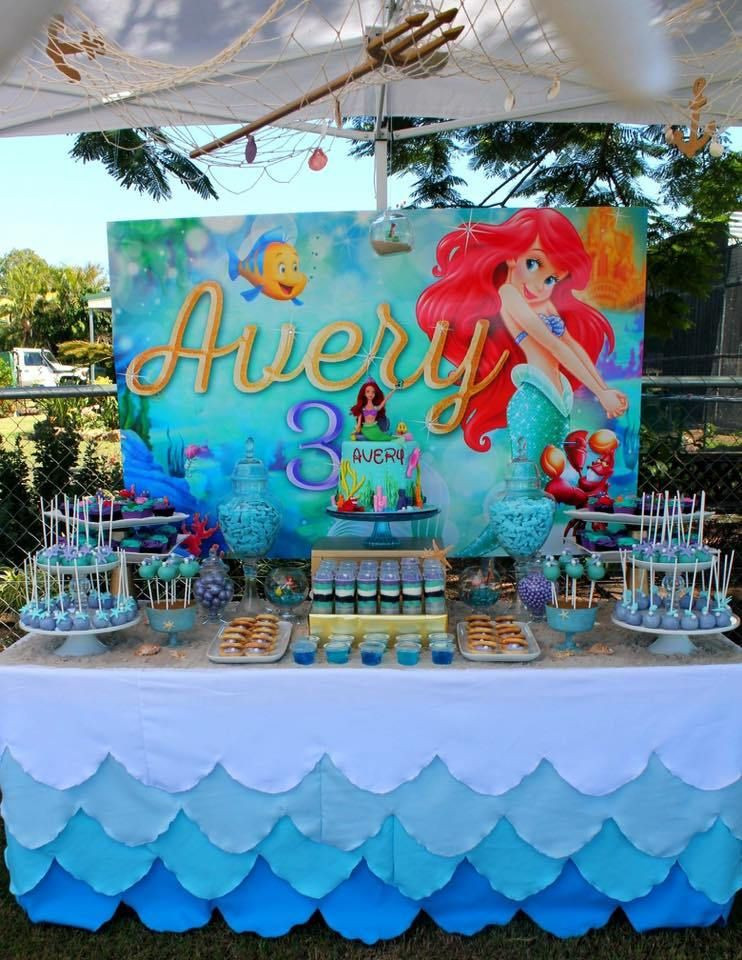 Ideas For Little Mermaid Birthday Party  THE LITTLE MERMAID BIRTHDAY PARTY DECORATIONS A PEQUENA