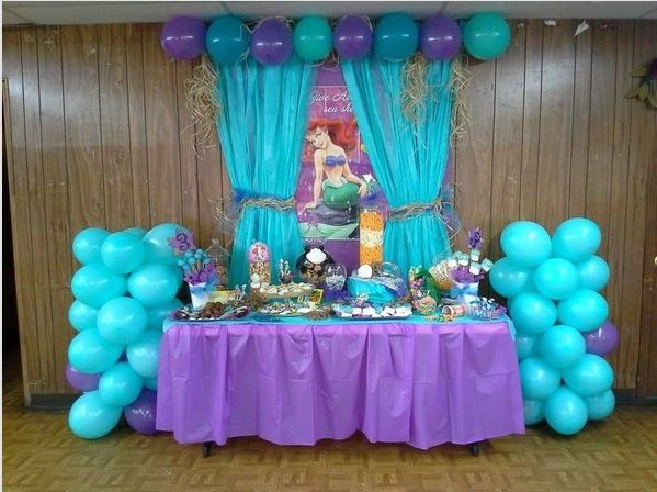Ideas For Little Mermaid Birthday Party  Backdrop Little Mermaid party
