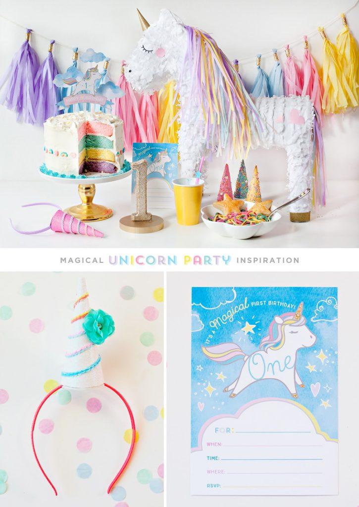 Ideas For Unicorn Party  Simple & Sweet Unicorn Birthday Party Ideas Hostess