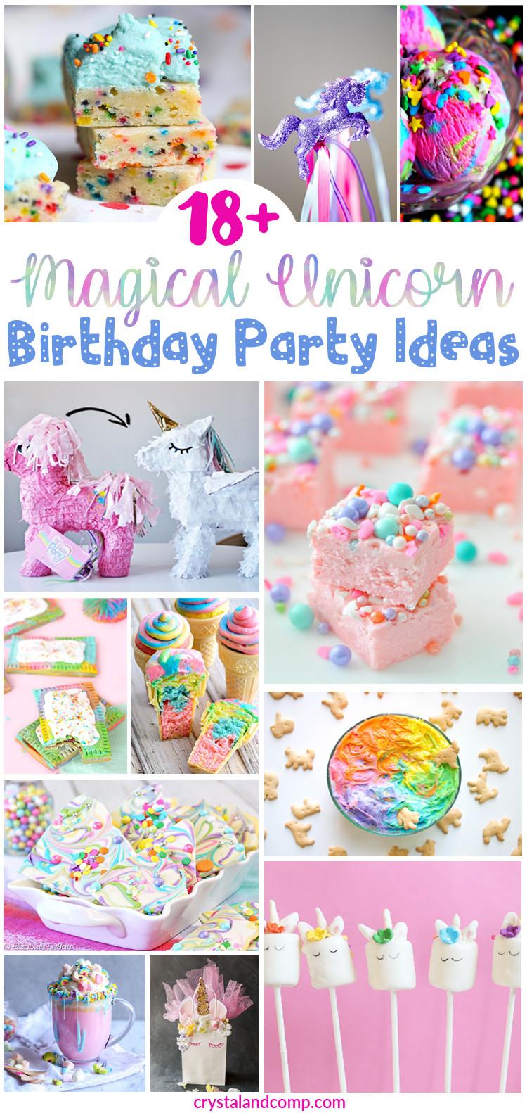 Ideas For Unicorn Party  Over 18 Magical Unicorn Birthday Party Ideas