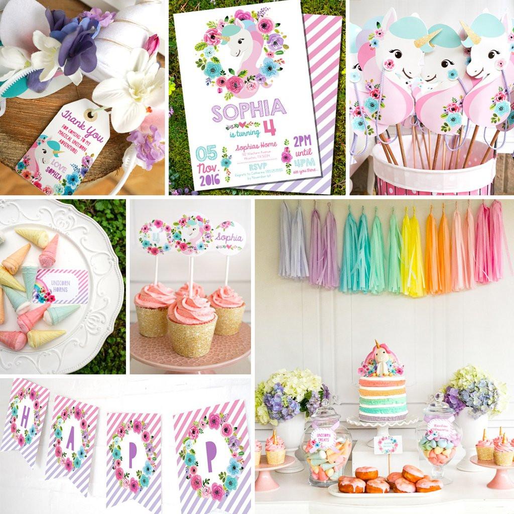 Ideas For Unicorn Party  Unicorn Birthday Party Decorations