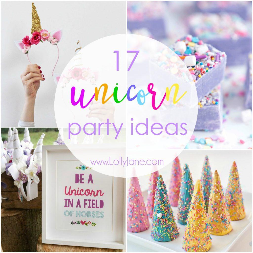 Ideas For Unicorn Party  17 Unicorn Party Ideas To Throw The Ultimate Unicorn Party