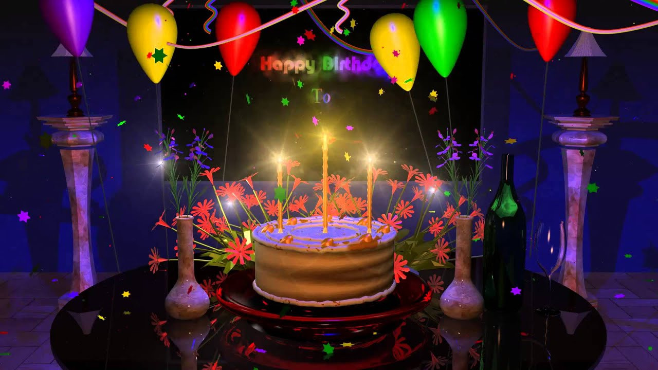 Image Of Birthday Cake  Happy Birthday Cake Presentation Animation Video