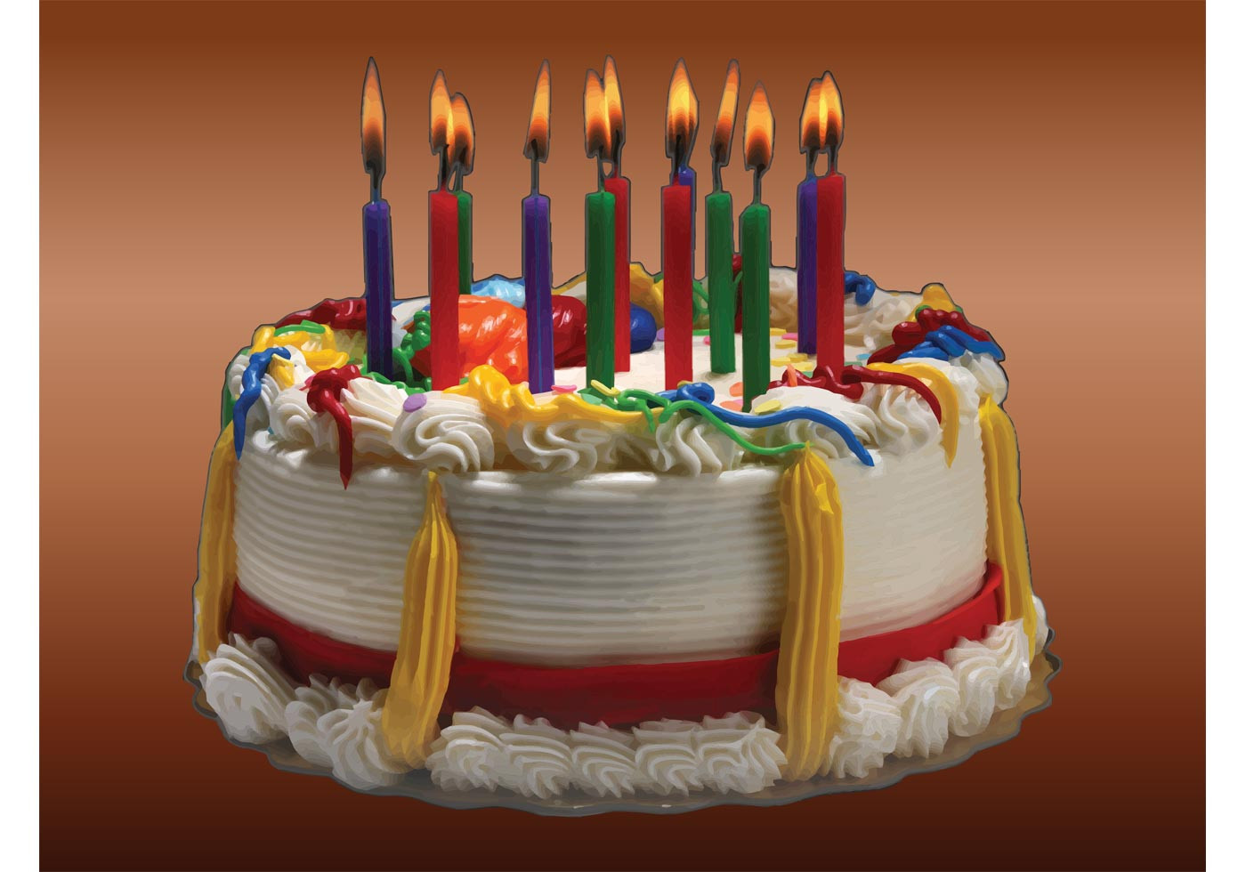 Image Of Birthday Cake  Birthday Cake Image Download Free Vector Art Stock