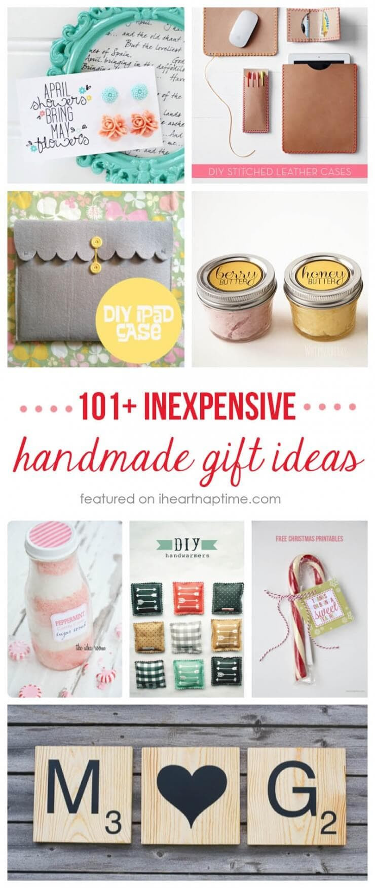Inexpensive Christmas Gift Ideas  50 homemade t ideas to make for under $5 I Heart Nap Time