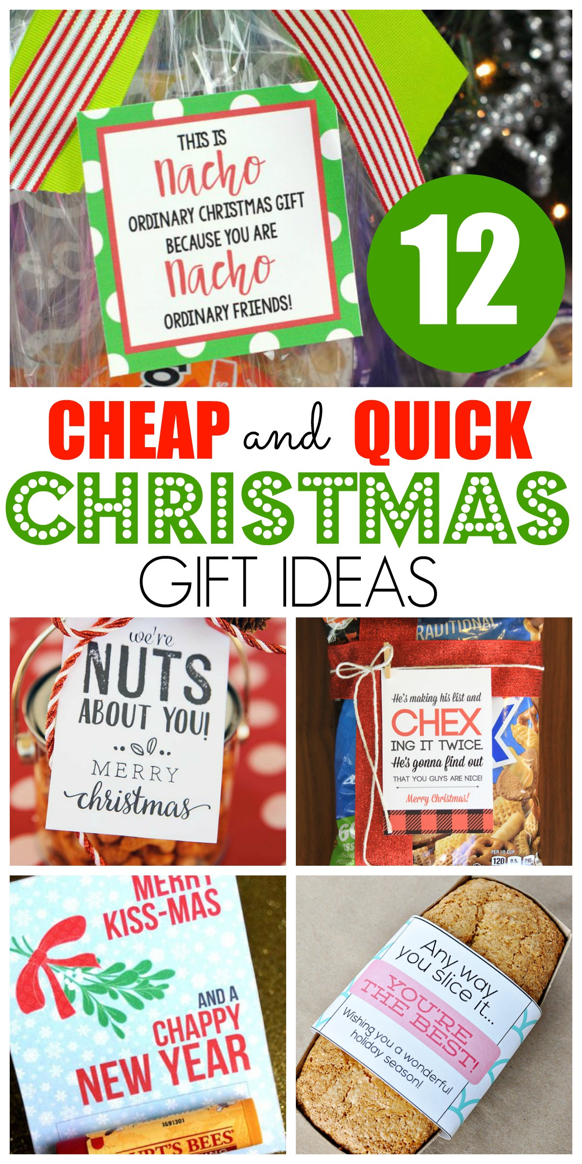 Inexpensive Christmas Gift Ideas  12 Cheap and Quick Christmas Gift Ideas Happy Home Fairy