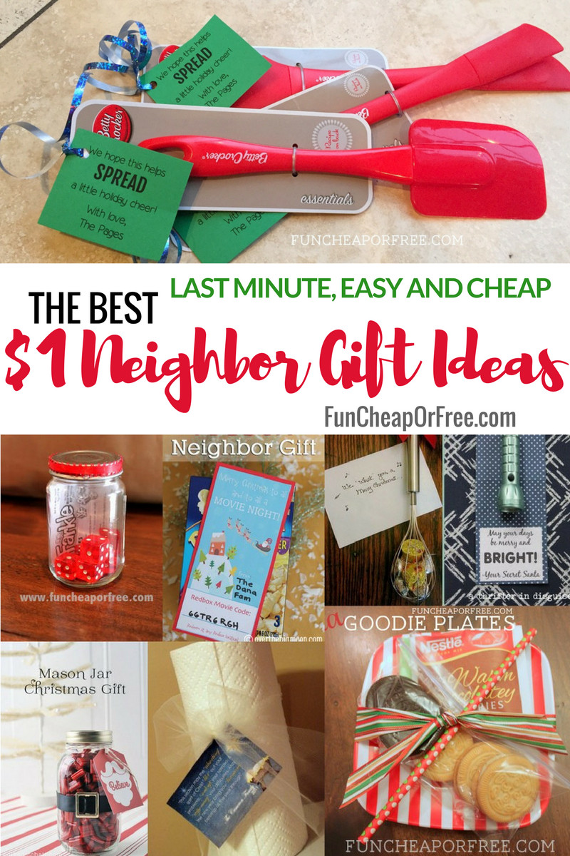 Inexpensive Employee Holiday Gift Ideas  25 $1 Neighbor t Ideas Cheap Easy Last Minute