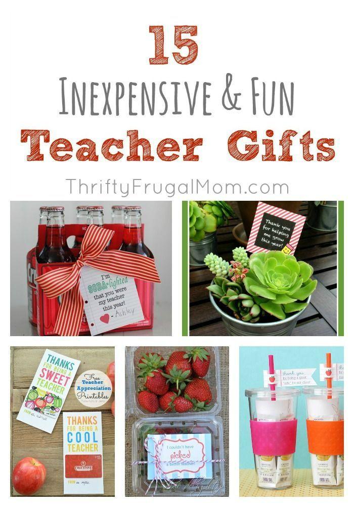 Inexpensive Thank You Gift Ideas  15 Fun Inexpensive Teacher Gifts
