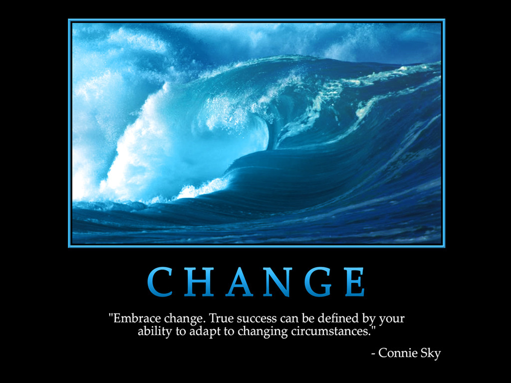 Inspirational Quotes Change  Motivational wallpaper on Change Embrace change true