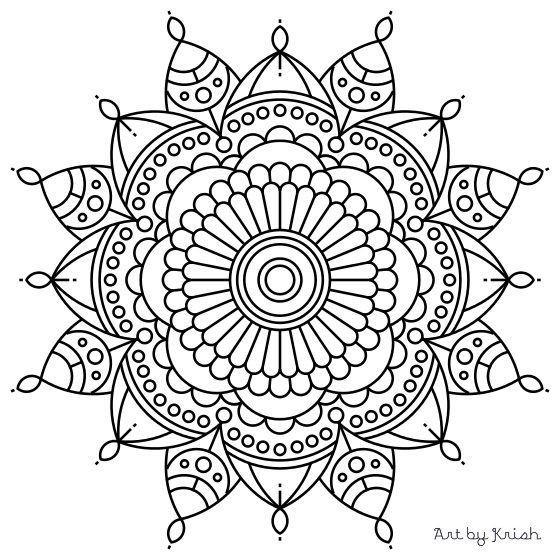 Intricate Coloring Pages For Kids  106 Printable Intricate Mandala Coloring Pages by