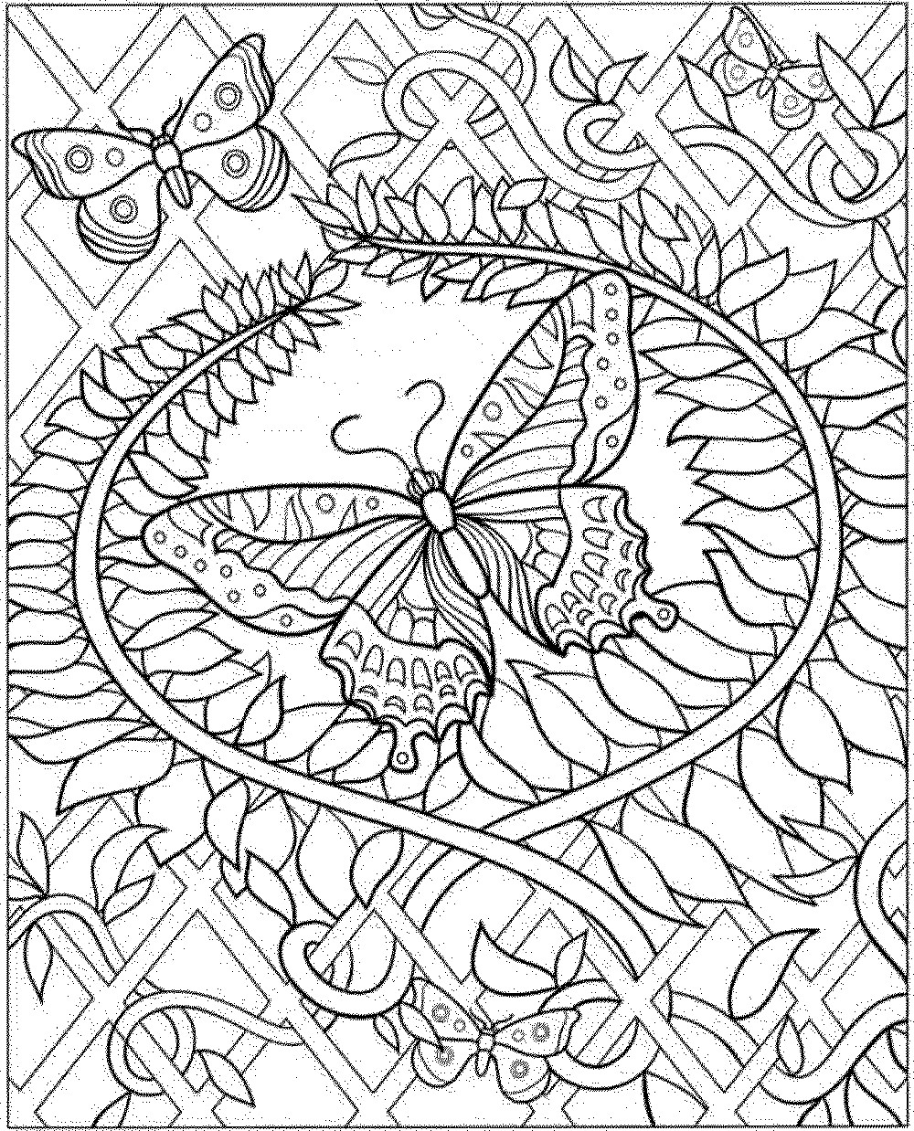 Intricate Coloring Pages For Kids  Intricate Flower Coloring Pages Coloring Home