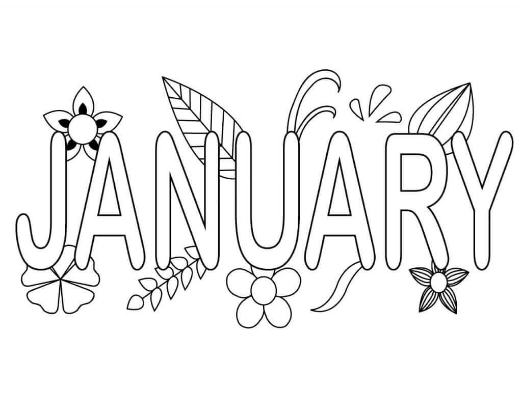 January Coloring Pages Free Printable  Free January Coloring Pages Printable