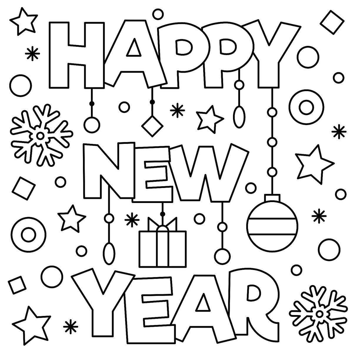 January Coloring Pages Free Printable  New Year & January Coloring Pages Printable Fun to Help