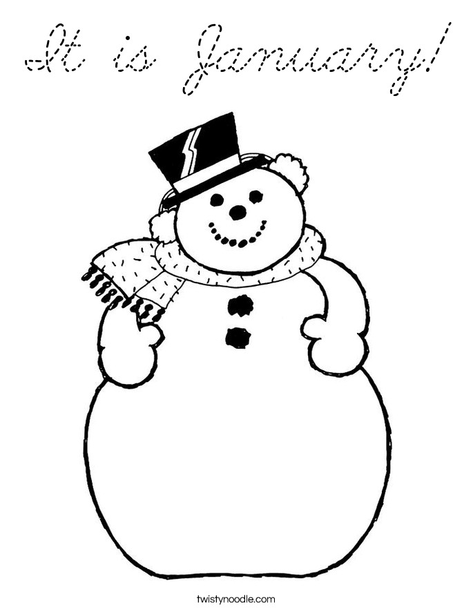 January Coloring Pages Free Printable  January Coloring Pages Bestofcoloring