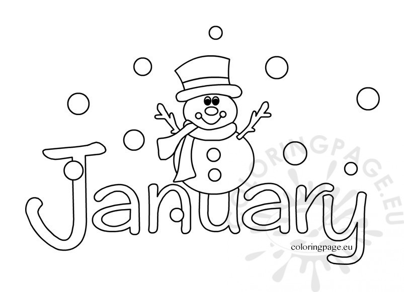 January Coloring Pages Free Printable  January coloring sheets – Coloring Page
