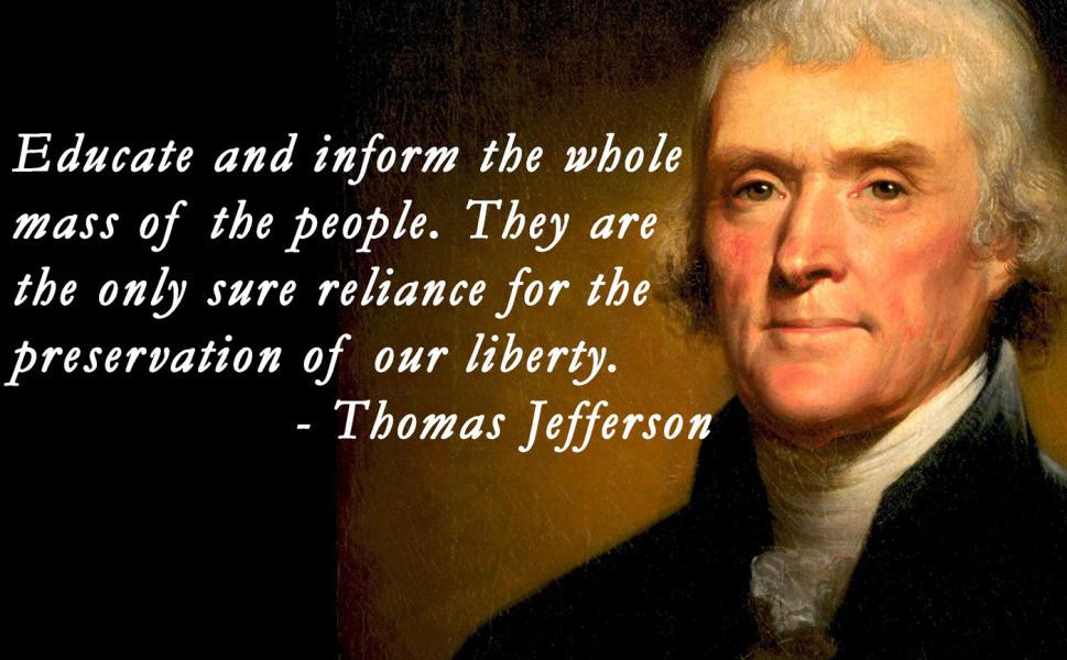 Jefferson Quotes On Education  Thomas Jefferson Quotes