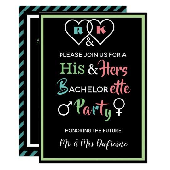 Joint Bachelor Bachelorette Party Ideas  Fun bined Bachelor Bachelorette Party Invite