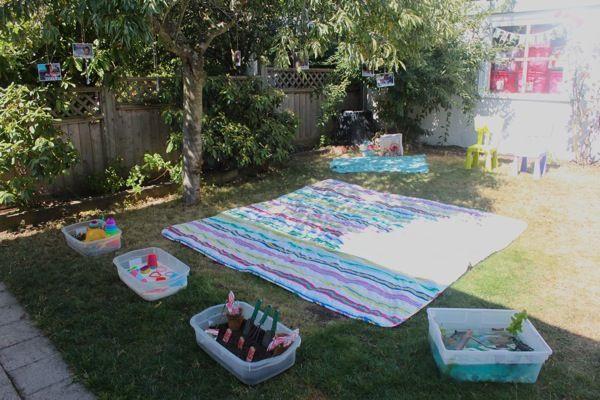 Kids Backyard Birthday Party Ideas  Gracen s 2nd Backyard Birthday Bash