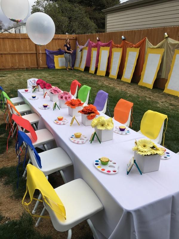 Kids Backyard Birthday Party Ideas  Kids Backyard Art Party Idea Pretty My Party Party Ideas