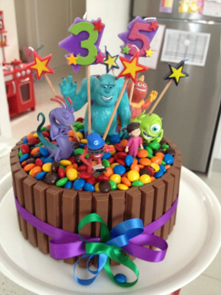 Kids Birthday Cake Recepies  Monsters Inc Birthday cake for the kids so easy & just