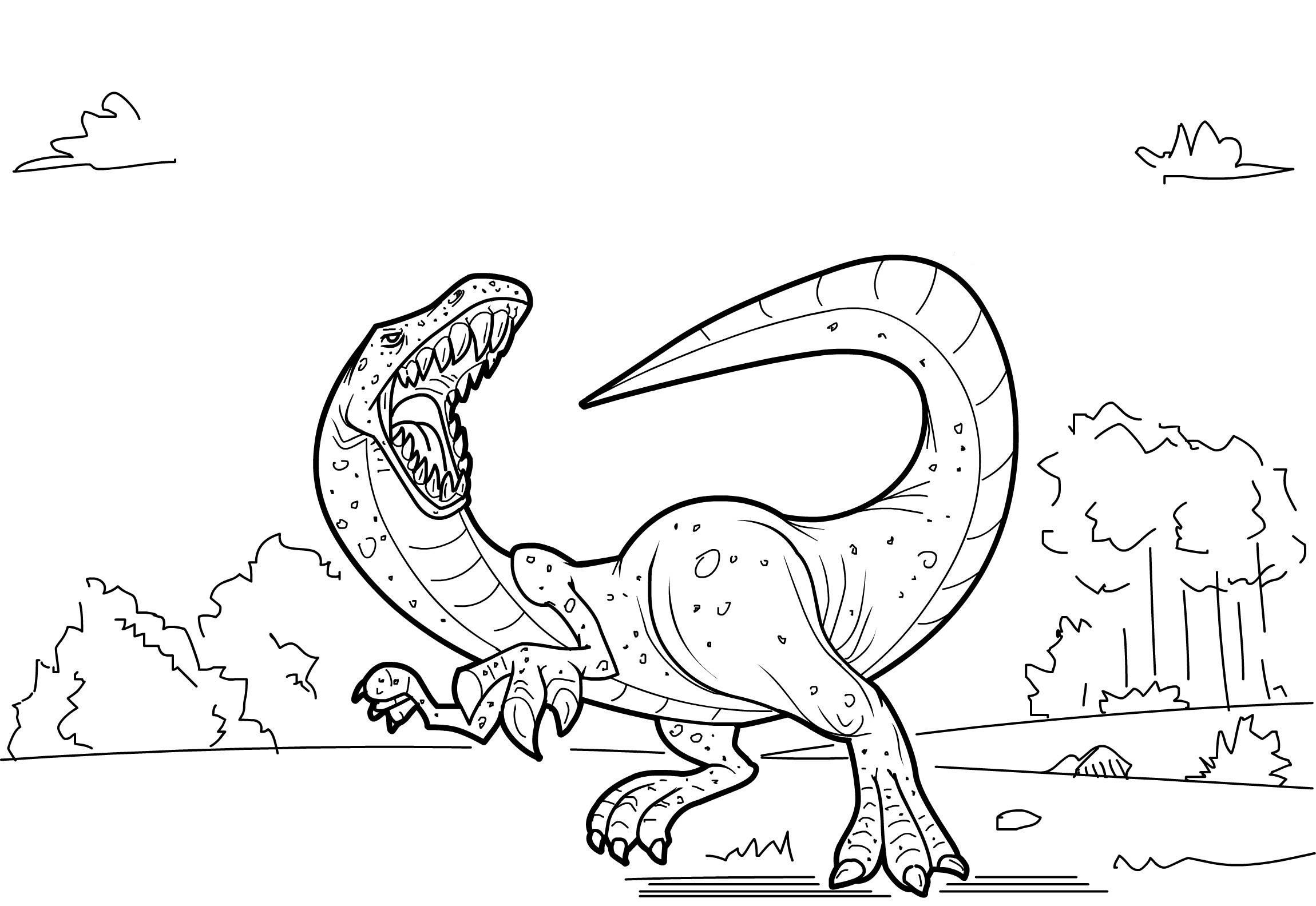 Kids Coloring Pages Dinosaur  Free Printable Dinosaur Coloring Pages For Kids