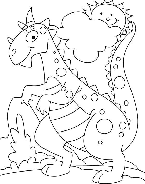 Kids Coloring Pages Dinosaur  Best 25 Dinosaur coloring pages ideas on Pinterest