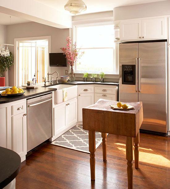 Kitchen Island Ideas For Small Kitchens  Small Space Kitchen Island Ideas Bhg