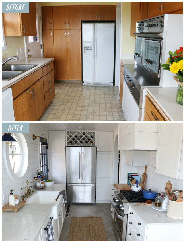 Kitchen Remodel Before And After  Small Kitchen Remodel Reveal The Inspired Room