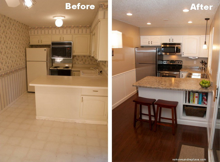 Kitchen Remodel Before And After  Beautiful Kitchen Remodel A Bud Before and After